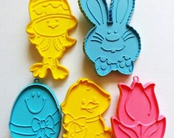 Hallmark Easter Imprint Cookie Cutters Lot 5 Vintage
