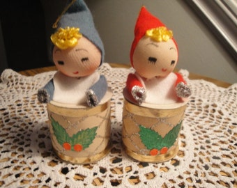 Pair of Pixie Ornaments