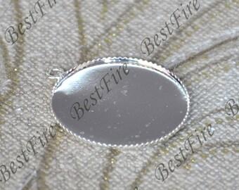 8 pcs 25mm Antique silver round Cabochon Pendant Base ,Pendant base findings,blank pendant base,Connectors Findings