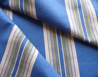 ANTIQUE FRENCH TICKING fabric blue stripe ticking cobalt blue stripe.