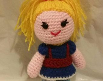 "crochet doll rainbow brite bright  80s 6"" sci-fi geek retro gift vegan cartoon pride gay amigurumi fun gift"
