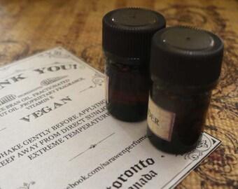 NINE Perfume Oil Samples / 2ml Perfume / Choose Your Scents / Vegan perfume oil