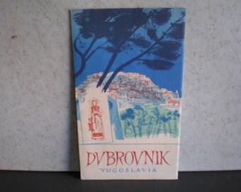 Vintage Mid Century Travel Brochure - DVBROVNIK - Yugoslavia