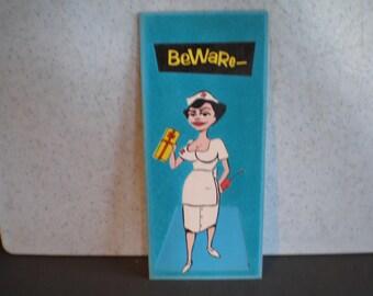 Large Unused Vintage Mid Century Dirty Humored Greeting Card - Get Well