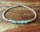 Opal Bracelet Opal Bracelets Peruvian Opal October Birthstone Bracelet Jewelry Silver Beaded Womens Teen Girls Birthday Gift Gifts for Her