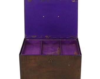 Purple Metal Box