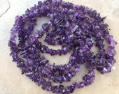 Amethyst Chip Beads, 34 inch strand, 5 to 8mm