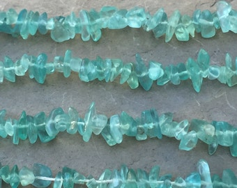 Apatite Chip Beads, 4 to 6mm, 33 inch strand