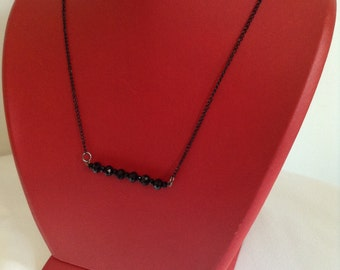 crystal stone, black, necklace, Christmas gift, Bridesmaid Necklace, Bridesmaid Jewelry, Wedding Jewelry,bridesmaid gift