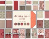 Joyeux Noel Fat Quarter by French General for Moda