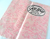 Vintage Bridal Shower Gift Wrap 2 Sheets Pink Brides Wrapping Paper for Wedding Shower 2 Sheets NOS 8.3 Feet