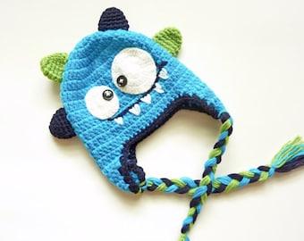 Little Monster Crochet Hat For Baby