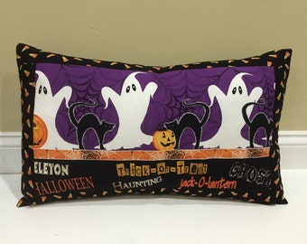 SALE, Halloween Pillow, Trick or Treat, Ghost, Pumpkin