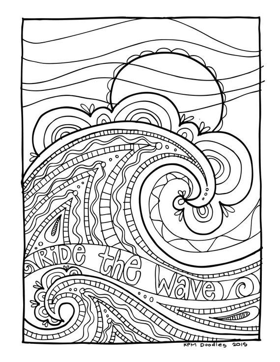 KPM Doodles Coloring page Wave