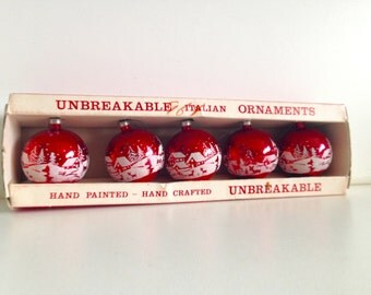 Vintage Yuletide Christmas Ornaments