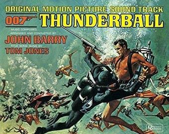 Vintage James Bond 007 Thunderball Movie Soundtrack LP Record Vinyl Album