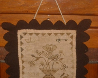 Simple Bounty Cupboard Sampler, Primitive Floral Cross Stitch, Autumn Harvest ~ FREE U.S. SHIPPING