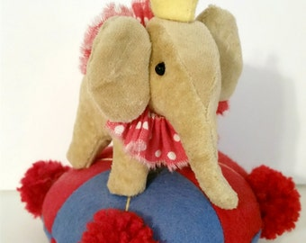 Elephant Pincushion Circus Kawaii Pincushion