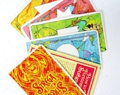 Retro 1960s Strega Fortune Telling Cards Digital Download Deck w Instructions, Strega Liquor Promotional Fortune Telling Card Deck Download