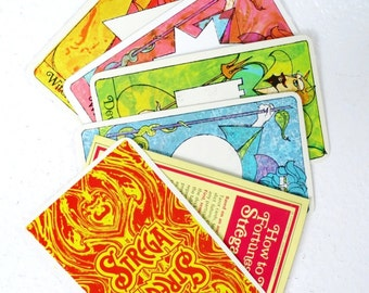Retro 1960s Strega Fortune Telling Cards Digital Download Deck w Instructions, Strega Liquor Promotional Fortune Telling Card Deck Download