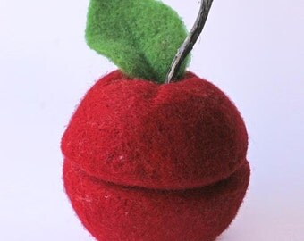 Tutorial: Needle Felted Apple Bowl