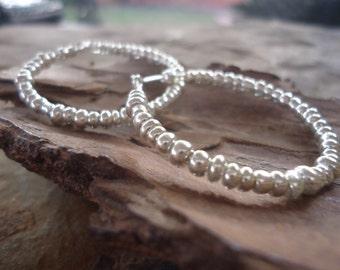 SHAKIRA HOOP EARRINGS creols with glass beads (1281)