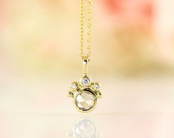 Antique – Gold pendant with champagne diamond