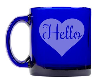 Colbalt Blue Coffee Mug 13oz -9300 Hello