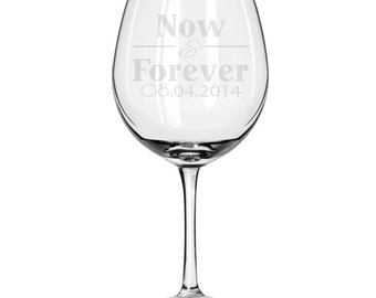 Personalized Oversized Red Wine Glass-18 oz.-7624 Now & Forever Personalized with Date