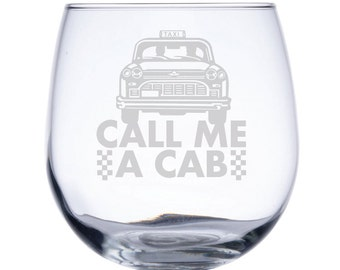 Stemless Red Wine Glass-17 oz.-7733 Call me a Cab