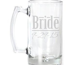 Personalized Large Beer Mug - 25 oz. - 8535 Bride Personalized