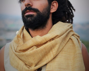Handwoven traditional meghalaya raw silk shawl for Men