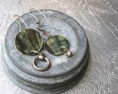 Tartan Tin Asymmetrical Earrings-Arty Look-Mismatched Earrings