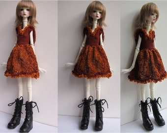 Doll-Chateau KID: Knitted Full-Skirted Dress with Hoodie