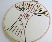 Initials Carved Tree Embroidery Hoop Art. WeddingGift. Anniversary Gift. Monogram. DIY Embroidery Pattern. Baby Shower Gift. Tree Art. Love