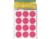 """1"""" Med Pink Adhesive Felt Circles 96 Dots"""