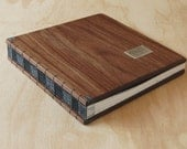 RESERVED for Jessica - instant photo guest book walnut wood