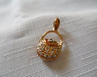 Antique Gold Vermeil Purse Pendant