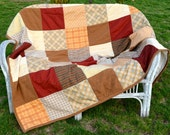 Reserved for Florencio, Countryside Quilt, Twin size