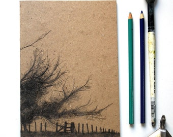 Sketchbook/Jotter - Windswept Trees