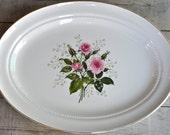 Hall Superior Pink Rose Floral Platter