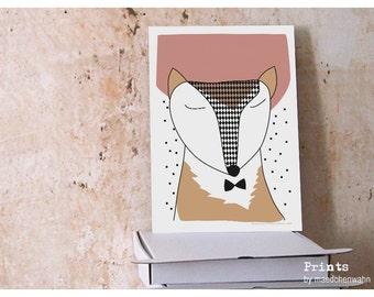 Mister Fox, Print Fox Poster Fuuss Renert