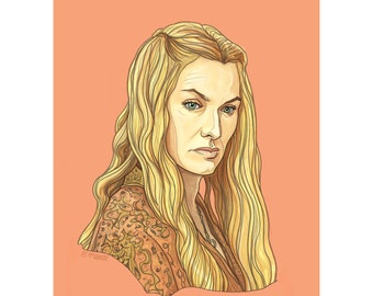 "CERSEI 5x7"" GAME of THRONES limited edition print"