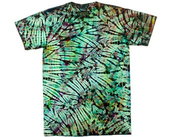 S Shibori Men's T Shirt Stella Green 22