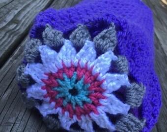 Purple Mandala Yoga Mat Tote