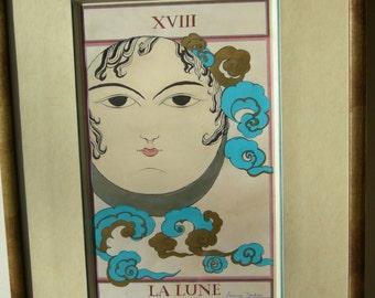 Tarot card The Moon original painting