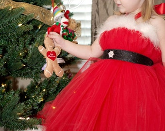 Kids Christmas Outfit | Girls Christmas Outfit | Gifts for Kids | Girls Holiday Outfit | Christmas Dress | Santa Christmas Tutu Dress