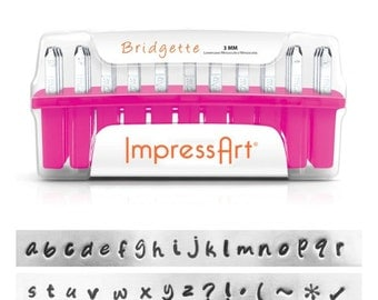 Metal Stamping Kit Impressart Bridgette Lowercase Includes Additional Metal Stamps Starter Kit