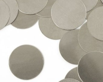 "Metal Stamping Blanks Circle Blanks 2"" Aluminum Blanks Round Blanks Large Metal Stamping Blanks Impressart 2 pieces 20 gauge"