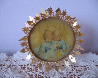 Vintage ARS Hummel Christmas Ornament Set 5, 24K Gold